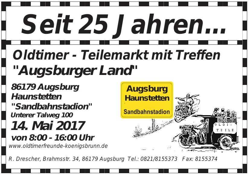 """Oldtimer - Teilemarkt mit Treffen """"Augsburger Land"""""""