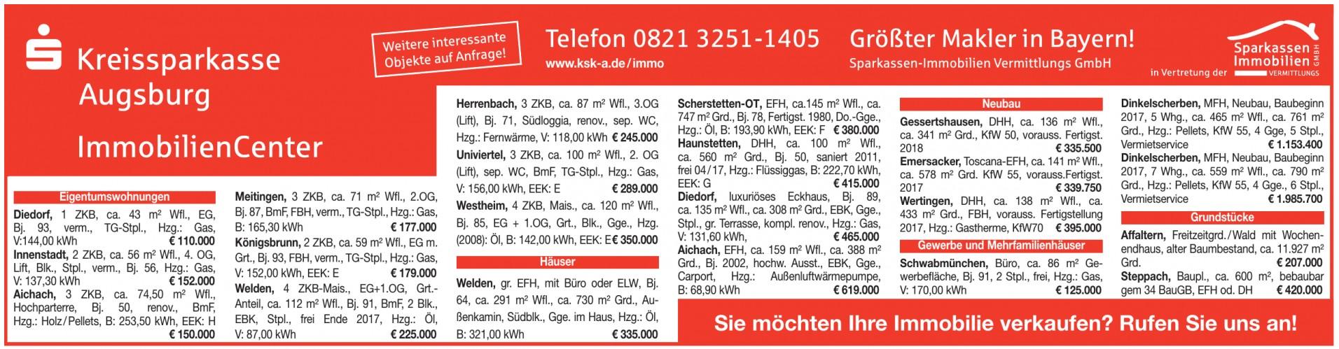 Sparkassen-Immobilien Vermittlungs GmbH - Kreissparkasse Augsburg