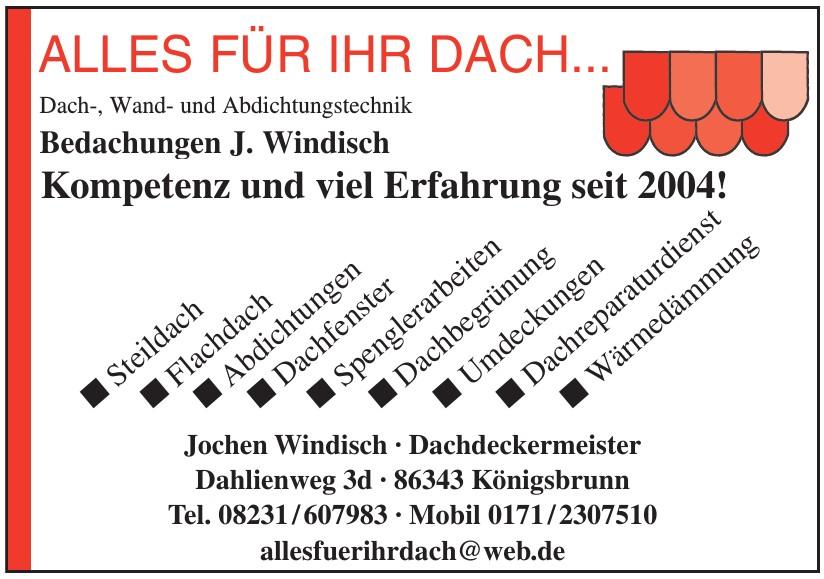 Jochen Windisch, Dachdeckermeister