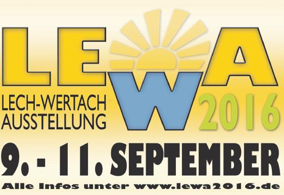 LeWa Ausstellung 9.-11. September 2016 - Halle und Freiflächen an der Hydro-Tech Eisarena Königsbrunn