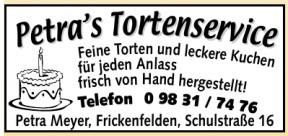 Petra Meyer, Tortenservice