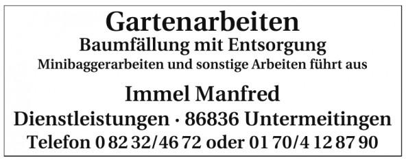 Immel Manfred Dienstleistungen