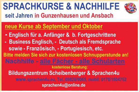 Bildungszentrum Scheibenberger & Sprachen4u
