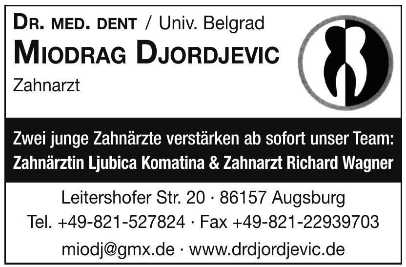 Dr. Med. Dent Miodrag Djordjevic Zahnarzt