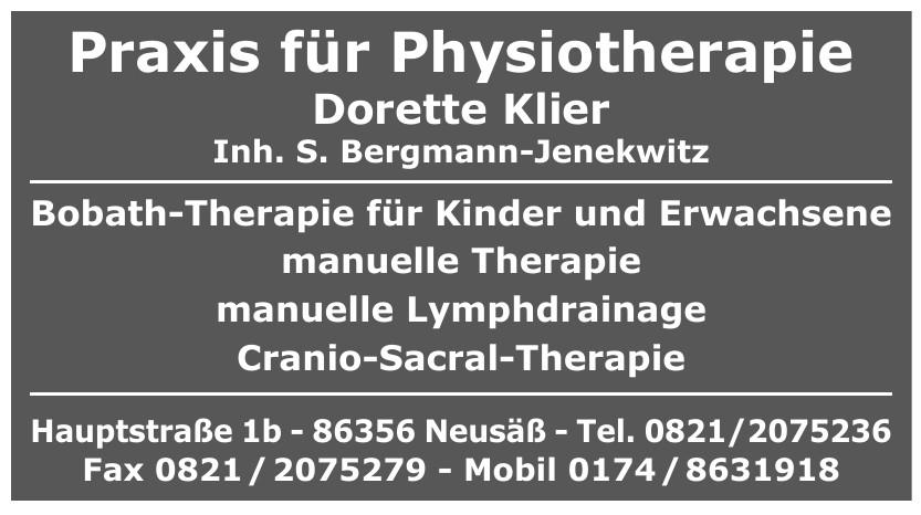 Praxis für Physiotherapie Dorette Klier