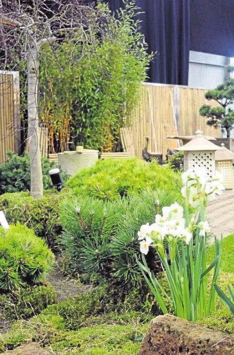 """Das """"grüne Wohnzimmer"""" ist ein Highlight, bei welchem Gartenexperten neue Ideen präsentieren. Ein Muss für alle Besucher."""