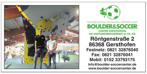 Boulder & Soccer