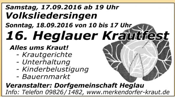 16. Heglauer Krautfest