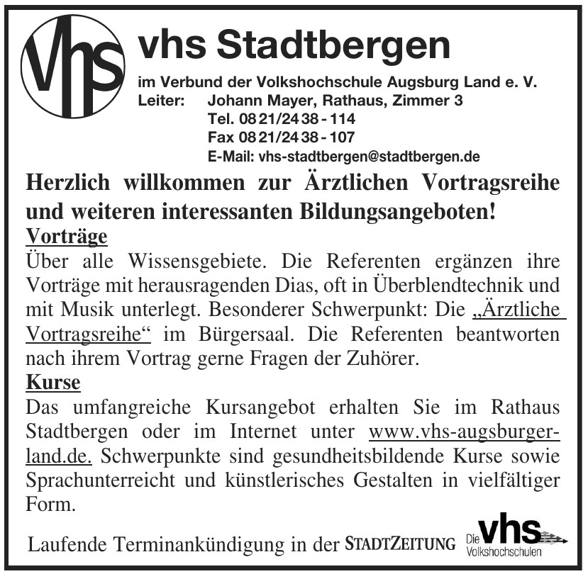 vhs Stadtbergen